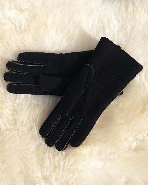 Ladies Lambskin Gloves - Black Gloves