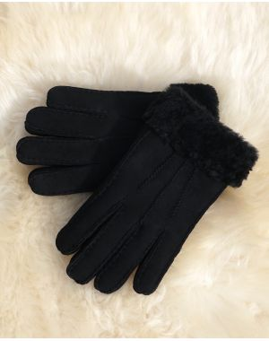 Mens Black Sheepskin Gloves - Ashton Gloves & Mittens