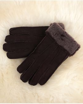 Mens Brown Sheepskin Gloves - Ashton
