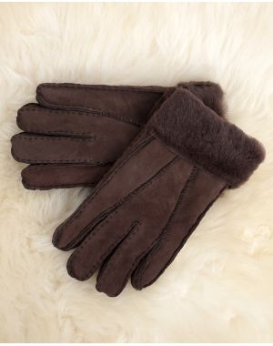 Mens Taupe Sheepskin Gloves - Ashton Gloves & Mittens
