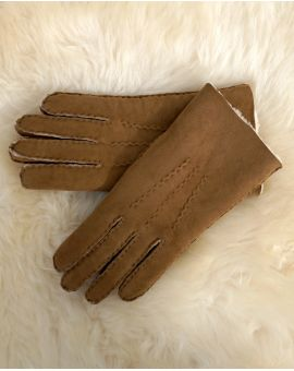 Mens Lambskin Gloves - Tan
