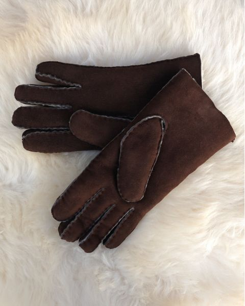 Mens Lambskin Gloves - Brown Gloves & Mittens