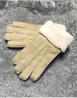 Oatmeal Sheepskin Gloves - Poppy Gloves