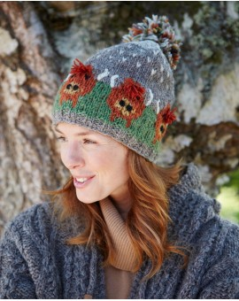 Highland Cow Bobble Beanie