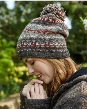 Wool Bobble Beanie Hat - Helsinki Hats & Headbands