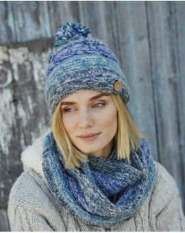 Sierra Nevada Bobble Beanie - Blue Hats & Headbands