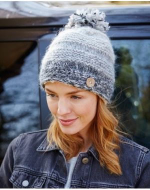 Sierra Nevada Bobble Beanie - Smoke Hats & Headbands