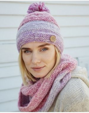 Sierra Nevada Bobble Beanie - Pink Hats & Caps