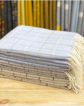 Merino Wool Check Throw