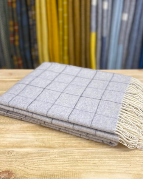 Merino Wool Check Throw Home & Living