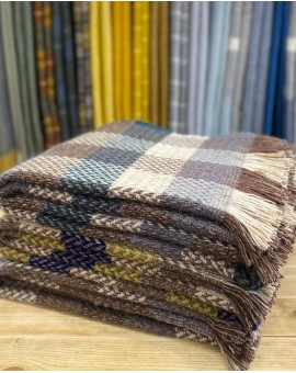 All Wool Celtic Weave Check Throw