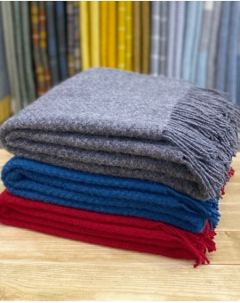 Pure New Wool Throw - Wafer