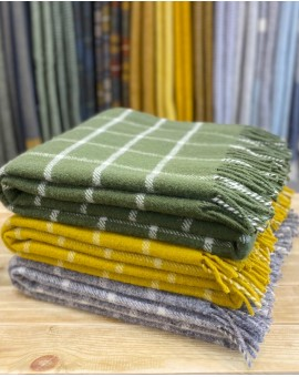 Check Pure New Wool Throw