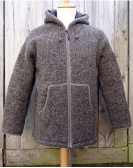 Classic Knitted Hoody - Brown Knitwear
