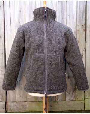 Fleece Lined Wool Jacket Knitwear