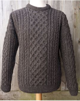 Jacob Wool Aran Jumper Knitwear