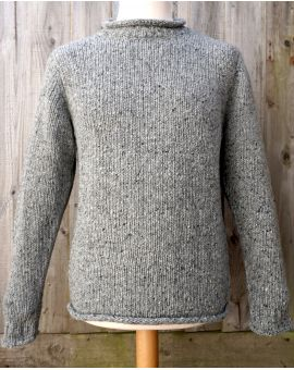 Donegal Wool Jumper - Grey