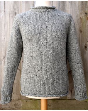 Donegal Wool Jumper - Grey Knitwear