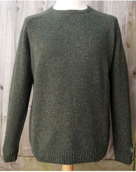 Donegal Blend Lambswool Jumper - Green Knitwear