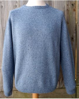 Donegal Blend Lambswool Jumper - Blue Knitwear