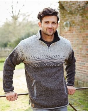 Mens Half Zip Jumper - Isle of Skye Knitwear
