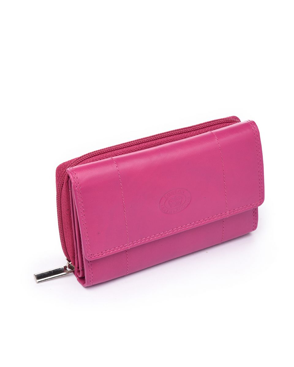 Pink leather purse for Home accessories london
