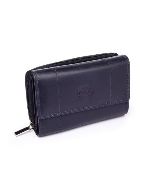 Navy Leather Purse Purses