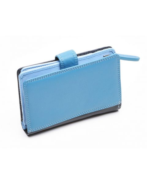 Blue Leather Purse - Fiji Purses