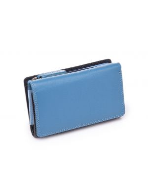 Blue Leather Purse - Bora Purses