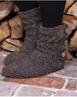Chamonix Slipper Socks - Bark Footwear