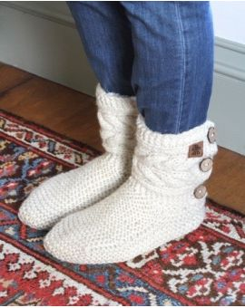 Chamonix Slipper Socks - Cream Footwear