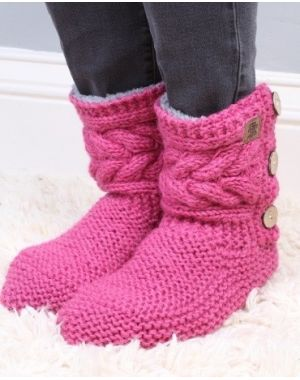 Chamonix Slipper Socks - Rose Footwear