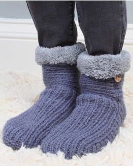 Morzine Slipper Socks - Denim Footwear