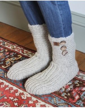 Morzine Slipper Socks - Oatmeal Footwear