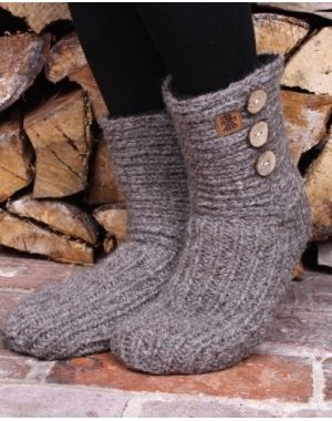 Morzine Slipper Socks - Grey Footwear