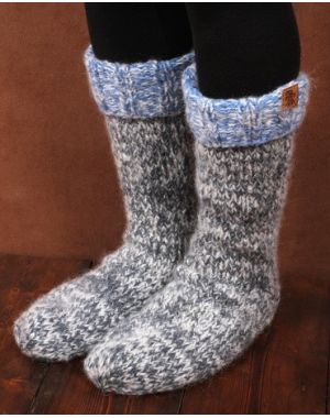 Blue Slipper Socks - Sierra Nevada Footwear