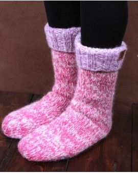 Pink Slipper Socks - Sierra Nevada Footwear
