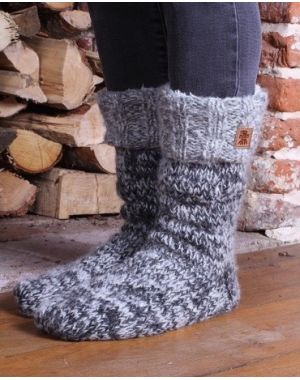 Sierra Nevada Slipper Socks - Smoke Footwear
