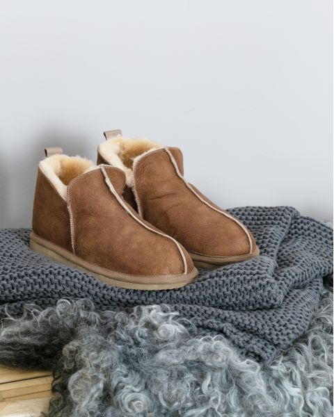 Sheepskin Bootee Slippers - Annie Footwear
