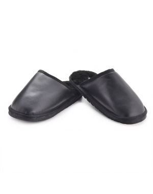 Leather and Sheepskin Mule Slippers - Daniel Footwear