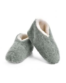 Green Merino Wool Bootie Slippers - Skiper