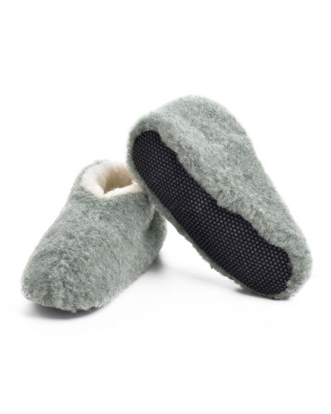 Green Merino Wool Bootie Slippers - Skiper Footwear