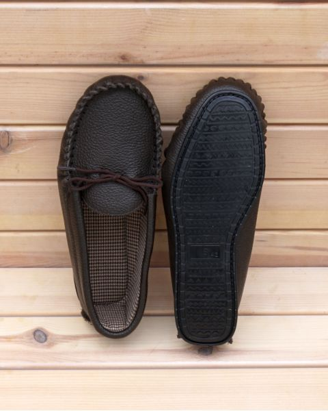 Brown Leather Moccasins - Hamish Footwear