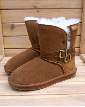 Ladies Sheepskin Belt Boots Sheepskin Boots