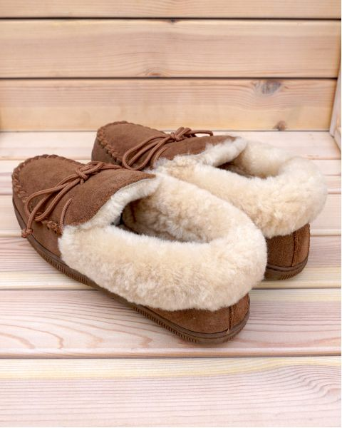 Ladies Sheepskin Moccasin Slippers - Kelly Moccassin Slippers