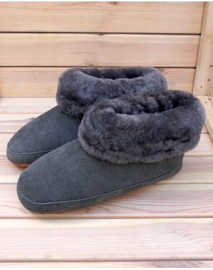 Fenland Sheepskin Booty Slippers - Ella Footwear