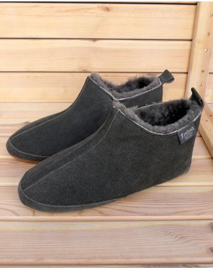 0f0adefbd61b49 Mens Fenland Sheepskin Booty Slippers - Grey