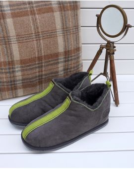 Ola Sheepskin Slippers - Green