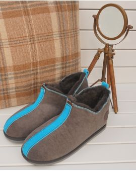 Ola Sheepskin Slippers - Blue