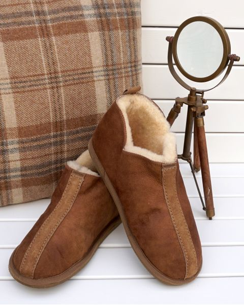 Ola Sheepskin Slippers - Cognac Footwear